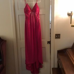 Pink prom /formal dress size 8 worn once